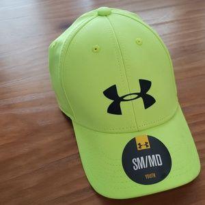 Neon Green/Yellow Under Armour Kids Hat H26